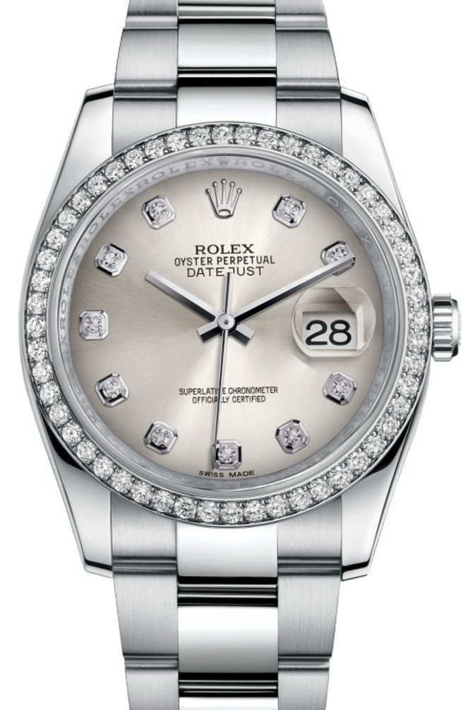 Rolex 116244 sdo Datejust 36mm Steel and White Gold