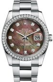 Rolex Datejust 116244 dkmdo 36mm Steel and White Gold