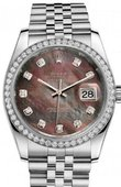 Rolex Datejust 116244-dkmdj 36mm Steel and White Gold