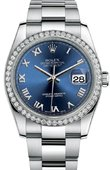 Rolex Datejust 116244 blro 36mm Steel and White Gold
