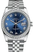 Rolex Datejust 116244-blrj 36mm Steel and White Gold