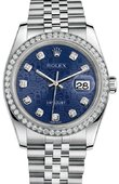 Rolex Datejust 116244-bljdj 36mm Steel and White Gold