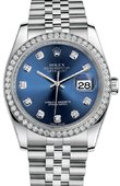 Rolex Datejust 116244-bldj 36mm Steel and White Gold
