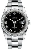 Rolex Datejust 116244 bkro 36mm Steel and White Gold
