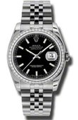 Rolex Datejust 116244-bkij 36mm Steel and White Gold