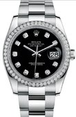 Rolex Datejust 116244 bkdo 36mm Steel and White Gold