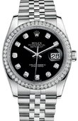 Rolex Datejust 116244-bkdj 36mm Steel and White Gold