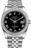 Rolex Datejust 116244-bkrj 36mm Steel and White Gold