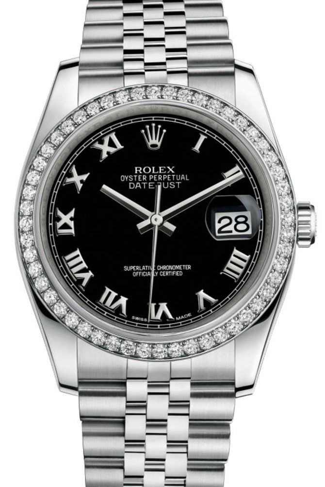 Rolex 116244-bkrj Datejust 36mm Steel and White Gold