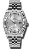 Rolex Datejust 116244-srj 36mm Steel and White Gold