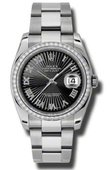 Rolex Datejust 116244 bksbro 36mm Steel and White Gold