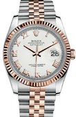 Rolex Datejust 116231 wrj 36mm Steel and Everose Gold