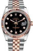 Rolex Datejust 116231 bkdj 36mm Steel and Everose Gold