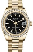 Rolex Datejust 178288 bkip 31mm Yellow Gold