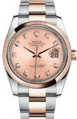 Rolex Datejust 116201 chdo 36mm Steel and Everose Gold