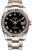 Rolex Datejust 116231 bkro 36mm Steel and Everose Gold