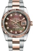 Rolex Datejust 116231 dkmdo 36mm Steel and Everose Gold