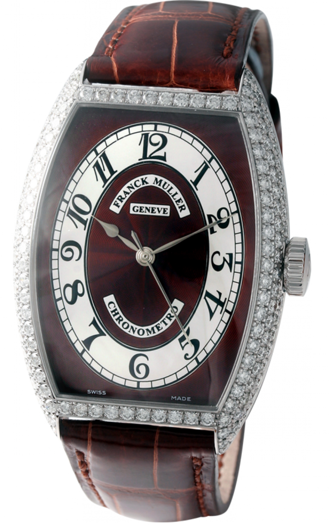 5850 SC CHR MET D Brown Franck Muller Chronometro Cintree Curvex