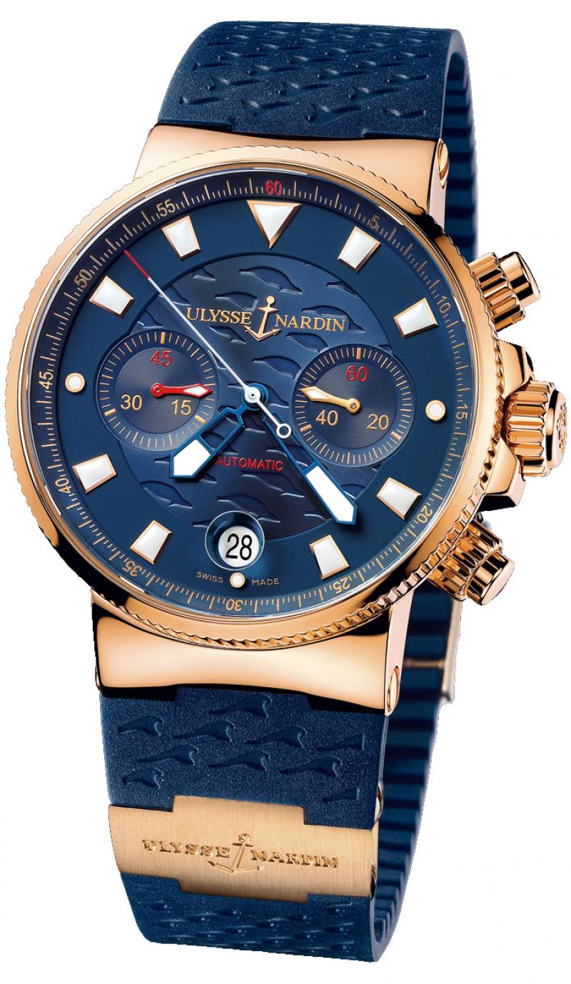 356-68LE-3 Ulysse Nardin Blue Seal Limited Edition 999 Maxi Marine Chronograph
