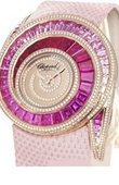 Chopard Ladies Classic Attractive Pink Sapphire and Diamond Watch High Jewellery