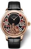 Jaquet Droz Les Ateliers D'Art J005023278 Petite Heure Minute Year of the Goat