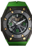 Linde Werdelin Oktopus Double Date Carbon - Green Waterproof