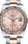 Rolex Datejust 116231 pddo Steel and Pink Gold Fluted Bezel
