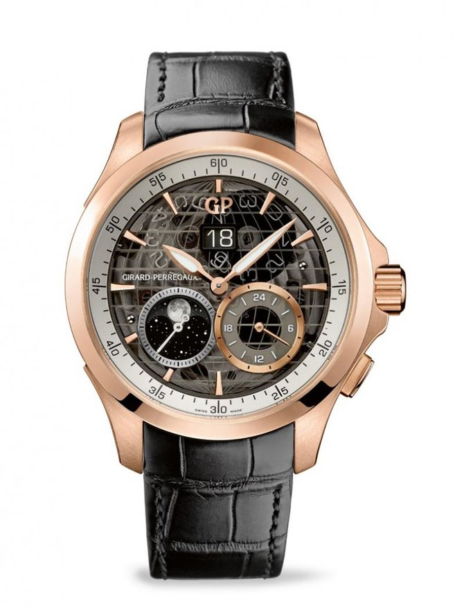 Girard Perregaux 49655-52-232-BB6A WW.TC Traveller Large Date Moon Phases & GMT - фото 1