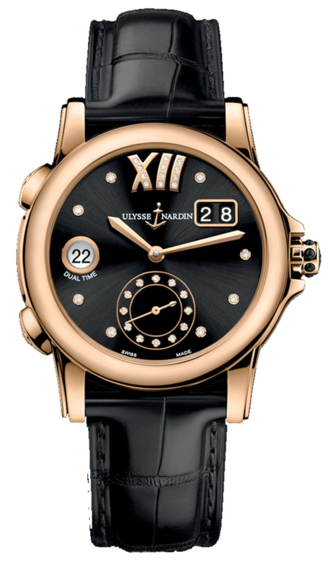Ulysse Nardin 3346-222/30-02 Dual Time Ladies Manufacture