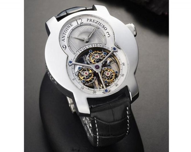 Antoine Preziuso 3volution I Croco Tourbillons Platinum  - фото 2