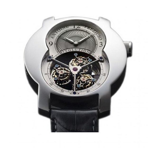Antoine Preziuso 3volution I Croco Tourbillons Platinum  - фото 1