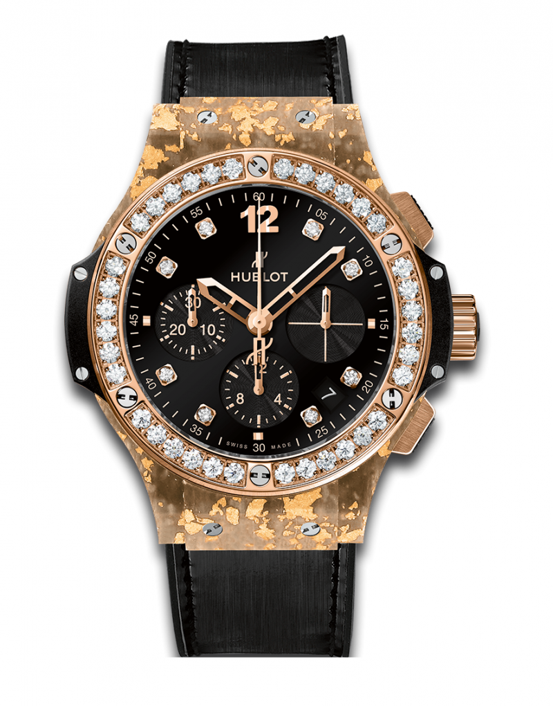 341.XN.1280.NR.1204 Hublot Gold Linen Big Bang 41mm Ladies