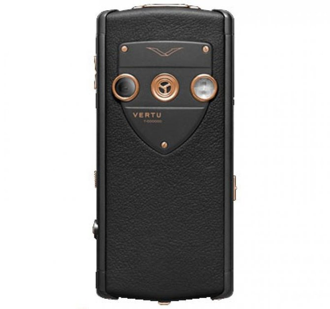 Vertu 002W8J1 Constellation Black PVD Stainless Steel Red Gold Sapphire Screen Black Leather - фото 2