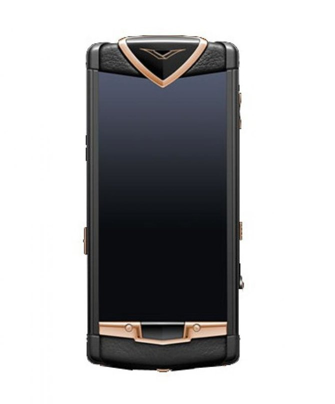 Vertu 002W8J1 Constellation Black PVD Stainless Steel Red Gold Sapphire Screen Black Leather - фото 1