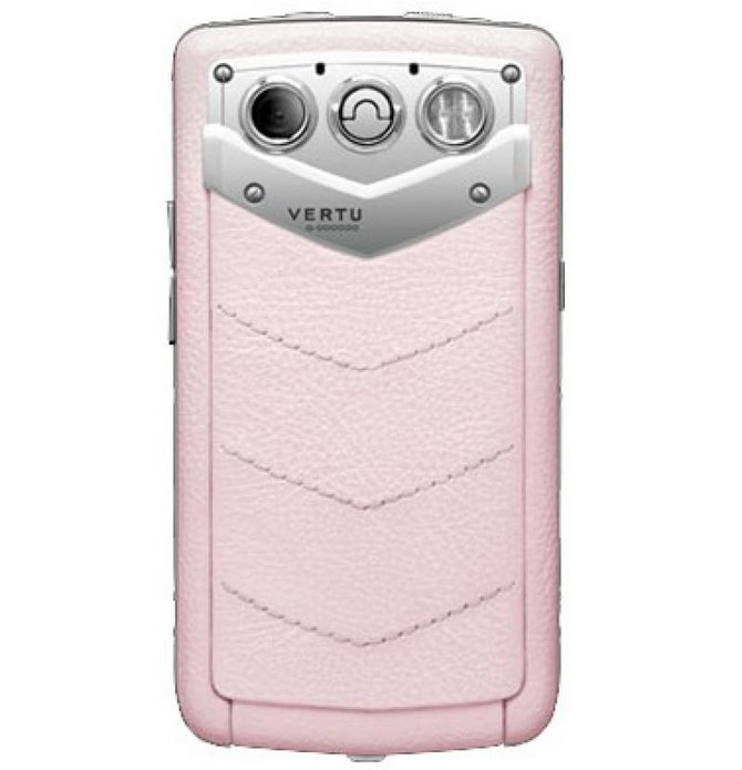 Vertu Polished Stainless Steel Sapphire Keys Pink Leathe Constellation Quest Quickoffice - фото 2