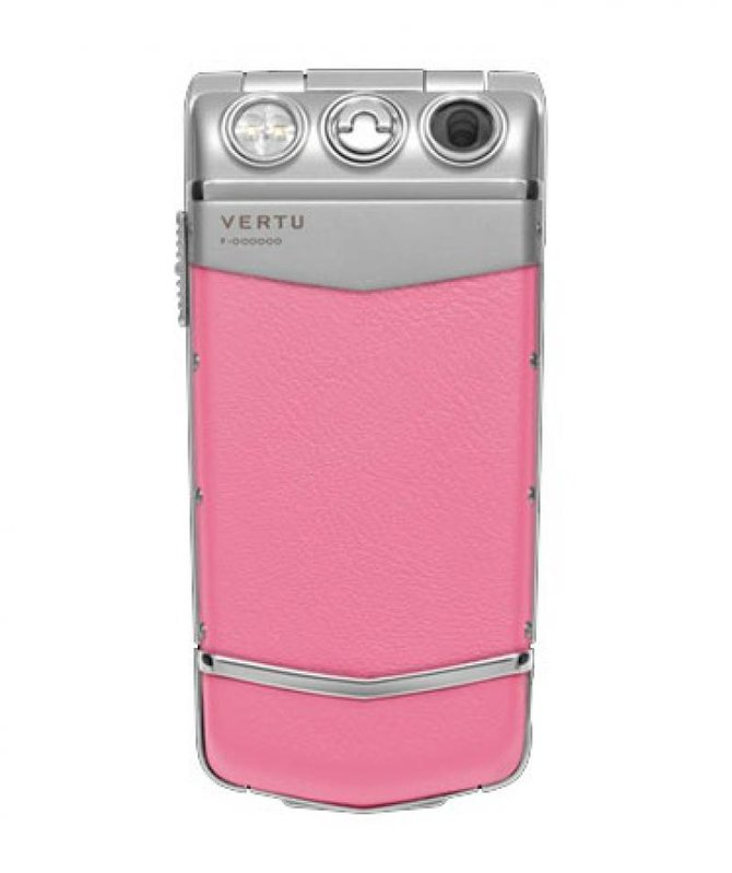 Vertu Aluminium Silver Ceramic Keys Constellation Quest Stainless Steel Pink Leather - фото 2