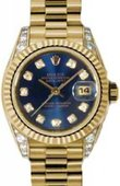 Rolex Datejust Ladies 179238 bldp 26mm Yellow Gold