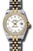 Rolex Datejust Ladies 179383 wdj 26mm Steel and Yellow Gold