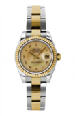 Rolex Datejust Ladies 179173 chmdro 26mm Steel and Yellow Gold