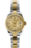 Rolex Datejust Ladies 179173 chjdo 26mm Steel and Yellow Gold