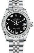 Rolex Datejust 178384 bkrj 31mm Steel and White Gold