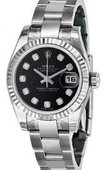 Rolex Datejust Ladies 179174 bkdo 26mm Steel and White Gold