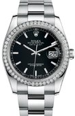 Rolex Datejust 116244 bkio 36mm Steel and White Gold
