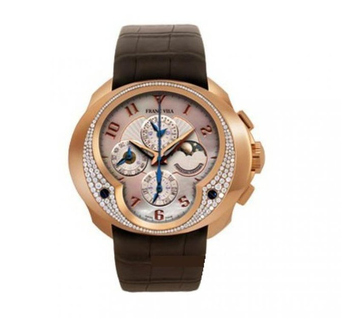 Franc Vila FVa11 Pink Gold Diamonds Complication Chronograph Fly-Back Haute Joaillerie