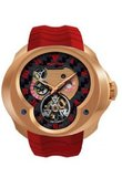 Franc Vila Часы Franc Vila Montre Contemporaine Grande Complication FVa №1 Red Caoutchouc Strap Tourbillon Planetaire Red Gold