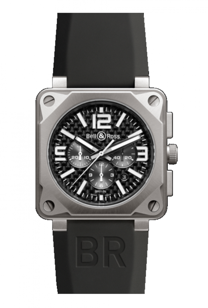 Bell & Ross BR 01-94 Chronographe Pro Titanium Carbon Fiber Dial Aviation 46 mm - фото 1