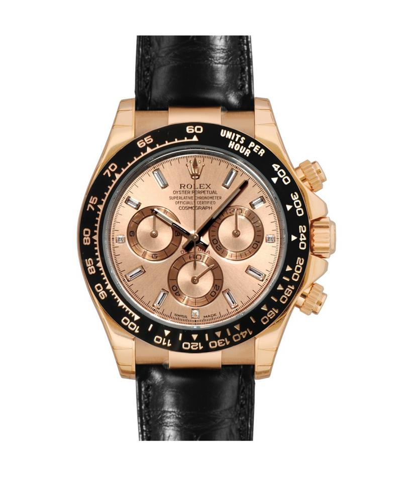 116515 Pink Baguette Index Rolex Cosmograph Daytona 40 mm Everose Gold Daytona