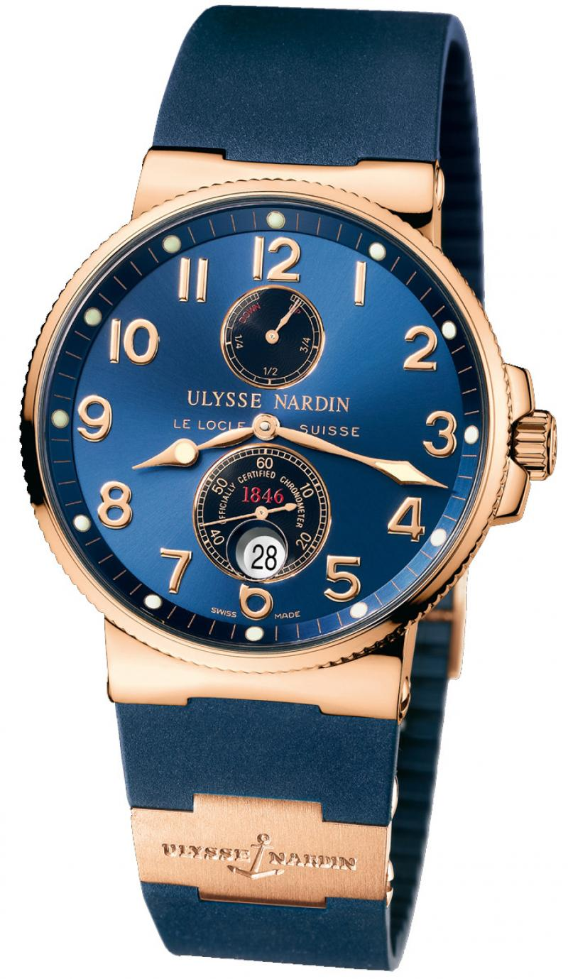 266-66-3/623 Ulysse Nardin Rose Gold Maxi Marine Chronometer 41mm