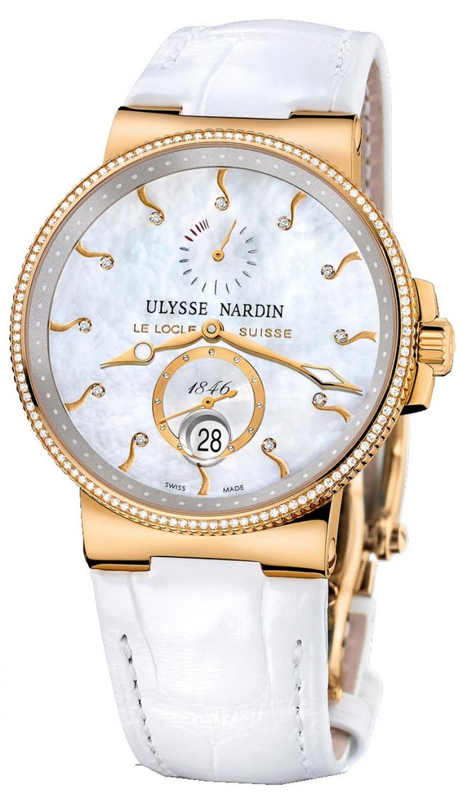 266-66B/991 Ulysse Nardin Rose Gold Maxi Marine Chronometer 41mm