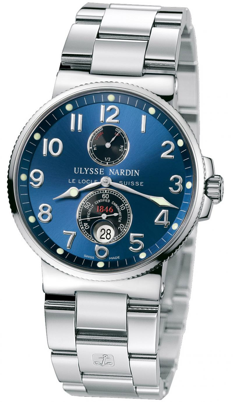 263-66-7/623 Ulysse Nardin Steel Maxi Marine Chronometer 41mm